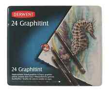 DERWENT GRAPHITINT TIN of 24 water-soluble tinted graphite pencils