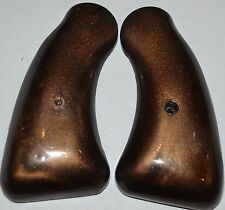 Colt Detective model 38 revolver pistol grips dark brown plastic with screw