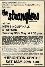 "20/5/78PN54 ADVERT 7X5"" THE STRANGLERS IN CONCERT AT NEW BINGLEY HALL STAFFORD"