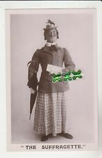 More details for rotary photo postcard ; the suffragette - comic - man dressed as a woman - vote