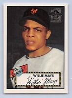 "1997  WILLIE MAYS - Topps Commorative "" Reprint "" Baseball Card # 2 - N.Y.Giants"