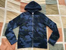 $548 Zadig & Voltaire clash camo wool cashmere zip hoodie sweatshirt M men NEW