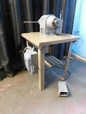 Speed Lathe,Schauer Bench Model W/5C Lever Type Collet Closer & Foot Pedal !!!