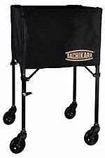 Tachikara Premium Canvas Basket Portable Volleyball Cart Black Finish Ds-1 New