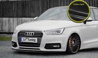 Spoilerschwert Frontspoiler Lippe aus ABS Audi A1 Facelift mit ABE Carbon Optik