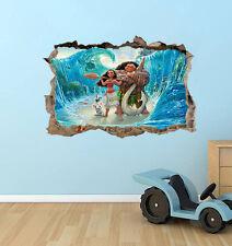 Moana wall decal sticker Moana and maui home decor wallpaper kids bedroom mural
