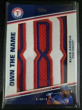 """2020 Topps Update Elvis Andrus Own the Name """"D"""" 1/1 One of One Rangers"""