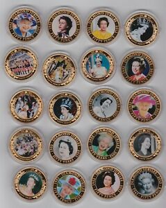 BOXED DIAMOND & CORONATION JUBILEE 24 GOLD PLATED COINS WITH CAPSULES & CERTS