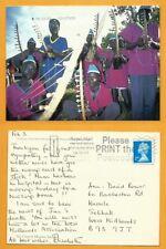 CONGO POSTCARD UK STAMP DUNGU STRING BAND AT KUMURU IN DEM.REP.CONGO