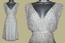 MONSOON Ivory Extremely Beautiful Embellished Wrap Style Short Wedding Dress 10
