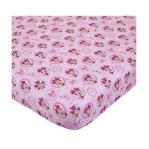 "Disney Minnie Mouse Bows are Best Baby Crib Sheet, 28"" X 52"" Pink Girls"