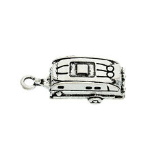8 Caravan Holiday Travel Antique Silver Charms Pendants 10mm x 26mm (022)
