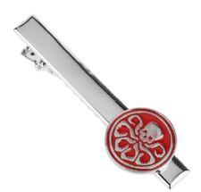Marvel's Captain America Hydra Shield Logo Red/Silvertone Metal Enamel TIE CLIP