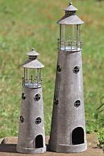 Windlicht Leuchturm 2er Set Teelichthalter Blech Eisen Lackiert Garten Deko NEU