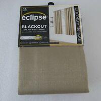 Eclipse Blackout Samara Latte 63-Inch Rod Pocket Window Curtain 1 Panel