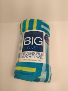 The Big One Reversible Beach Towel 34in. x 68 in.