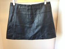 Wilsons Maxima Genuine Leather Mini Skirt Size 4