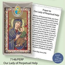 LADY OF PERPETUAL HELP PRAYER CARD & COLOUR MEDAL STATUES CANDLES PICTURES AVAIL