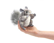 Chinchilla Finger Puppet with Busy Tail, Folkmanis  MPN 2759, 3 & Up, Unisex