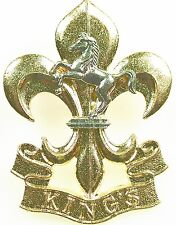 THE KINGS REGIMENT CLASSIC GENUINE REGIMENTAL CAP BADGE
