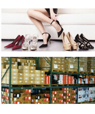 10 PAIRS NEW WHOLESALE JOB LOT RESALE SHOES SANDALS HEELS MIXED SIZES BOXED