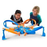 Hot Wheels Criss Cross Crash Track Set Kids Racing Playset 4 Way Smash Track