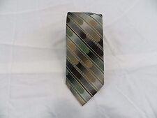 """Van Heusen Green Brown 57"""" Polyester Tie"""