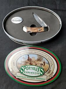 Remington Sportsman's Warehouse Series Gentleman's Knife in Tin w/ Pin Sportsman