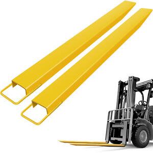 "84""x4.5'' Pallet Fork Extensions for Forklifts Lift Truck Slide on Steel 4.5"""