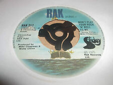 "SMOKIE "" DON'T PLAY YOUR ROCK 'N' ROLL TO ME "" 7"" SINGLE RAK 1975 VG"