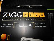 ZAGG KEYS FLEX Wireless BLUETOOTH KEYBOARD~EUCLike New w//COVER-ANDROID & APPLE!