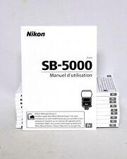 Nikon SB-5000 Speedlight User's Manual Instruction Manual Manuel d'utilisation