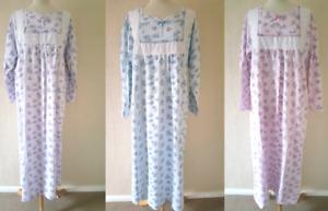 Ladies Nightdress Fleece Nighty Thermal Nightwear New Long Plus Size 14-24