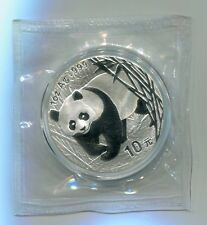 China 2002 1oz Silver Panda Coin