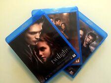 Lot 3 Blu-Ray : TWILIGHT CHAPITRES 1 2 ET 3 (PATTINSON, STEWART...) VAMPIRES etc