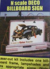 Blair Line N Scale  Deco 4 Signs Billboard Laser Cut Wood Sign 1429