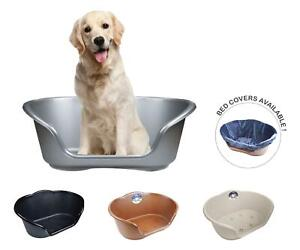 Plastic Dog Bed Basket Heavy Duty Waterproof Pet Cat Plush Cover Extra Large