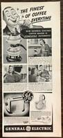 ORIGINAL 1940 General Electric Completely Automatic Coffee Maker Print Ad