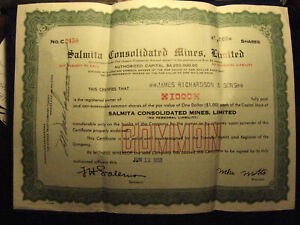 old stock certificate