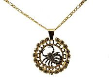 Escorpion 18k Gold Plated Pendant with 20 inch Chain  Scorpion Zodiac Horoscope