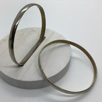 2 Vintage Mexico Taxco Sterling Silver Wide Bangle Bracelet Lot 925 28g Signed