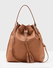 Gorgeous Boden Maxi Tassel Pouch Bag AM278 Handbag – Brown - New