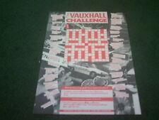 1988 VAUXHALL CHALLENGE QUESTIONS - BROCHURE Nova Astra Cavalier Carlton Senator