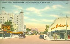 Miami Beach FL Chock Full of Fruits and Whelan's on Collins Avenue looking South