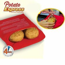 Potato Express Microwave Cooker Bag 4 Minute Fast Cooker Reusable Washable Hot