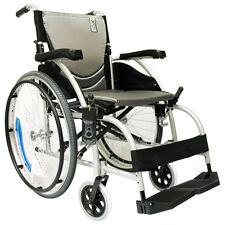 "Karman S-105 Ergonomic Ultra Lightweight Wheelchair  18"" x 17""  Silver"
