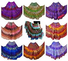 10 MIXED Tribal Gypsy Belly Dance Sari Peasant Boho Skirt Skirts Banjara OFFER
