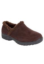 ComfortView Womens Size 7.5WW Dandie Clog Slip On Shoe Fleece Lined Brown $95 S6