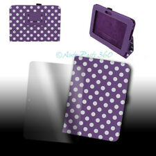 CASE COVER+SCREEN PROTECTOR STAND POUCH PU PURPLE DOT AMAZON KINDLE FIRE HD 7""