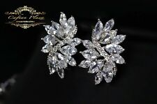 Ohrstecker Luxury Ohrringe Zirkonia AAA Swarovski Kristalle STELLUX™ Weissgold